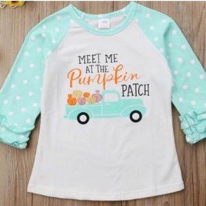 Other - Meet Me at the Pumpkin Patch Ruffle T shirt